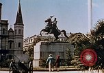 Image of French Quarter and Jackson Square New Orleans Louisiana USA, 1942, second 12 stock footage video 65675050321