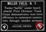Image of American Mark I Mod 1917 tanks New York United States USA, 1922, second 7 stock footage video 65675050348