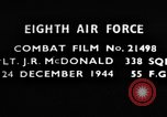 Image of Lieutenant J R McDonald Germany, 1944, second 1 stock footage video 65675050374