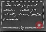 Image of village grindstone China, 1938, second 3 stock footage video 65675050387