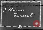 Image of funeral procession China, 1938, second 1 stock footage video 65675050392