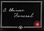 Image of funeral procession China, 1938, second 4 stock footage video 65675050392