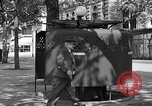 Image of street urinal Paris France, 1956, second 6 stock footage video 65675050418