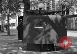 Image of street urinal Paris France, 1956, second 9 stock footage video 65675050418