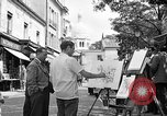Image of painter Paris France, 1956, second 3 stock footage video 65675050420