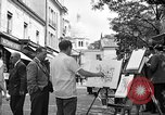 Image of painter Paris France, 1956, second 4 stock footage video 65675050420