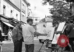 Image of painter Paris France, 1956, second 5 stock footage video 65675050420