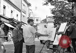 Image of painter Paris France, 1956, second 6 stock footage video 65675050420