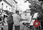 Image of painter Paris France, 1956, second 7 stock footage video 65675050420