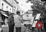 Image of painter Paris France, 1956, second 9 stock footage video 65675050420