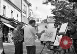 Image of painter Paris France, 1956, second 10 stock footage video 65675050420