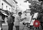Image of painter Paris France, 1956, second 11 stock footage video 65675050420