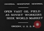 Image of oil drilling site Gronzy Soviet Union, 1931, second 4 stock footage video 65675050490