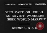 Image of oil drilling site Gronzy Soviet Union, 1931, second 5 stock footage video 65675050490