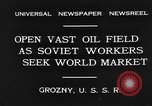 Image of oil drilling site Gronzy Soviet Union, 1931, second 8 stock footage video 65675050490