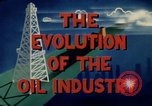 Image of evolution of oil drilling United States USA, 1952, second 10 stock footage video 65675050494