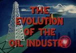 Image of evolution of oil drilling United States USA, 1952, second 11 stock footage video 65675050494