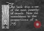 Image of oil ship tank United States USA, 1923, second 6 stock footage video 65675050531