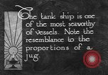 Image of oil ship tank United States USA, 1923, second 8 stock footage video 65675050531
