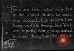Image of motor vehicles New York City USA, 1923, second 1 stock footage video 65675050545