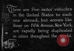 Image of motor vehicles New York City USA, 1923, second 2 stock footage video 65675050545