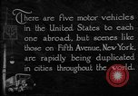 Image of motor vehicles New York City USA, 1923, second 3 stock footage video 65675050545