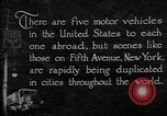 Image of motor vehicles New York City USA, 1923, second 6 stock footage video 65675050545