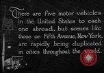 Image of motor vehicles New York City USA, 1923, second 7 stock footage video 65675050545