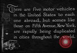 Image of motor vehicles New York City USA, 1923, second 8 stock footage video 65675050545