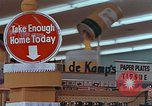 Image of 1950s supermarket in America Yonkers New York USA, 1958, second 1 stock footage video 65675050577