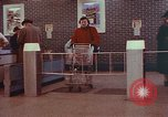 Image of Grand Union supermarket 1950s Yonkers New York USA, 1958, second 2 stock footage video 65675050578