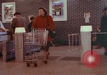 Image of Grand Union supermarket 1950s Yonkers New York USA, 1958, second 3 stock footage video 65675050578