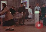 Image of Grand Union supermarket 1950s Yonkers New York USA, 1958, second 9 stock footage video 65675050578