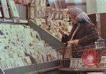 Image of 1950s supermarket shoppers Yonkers New York USA, 1958, second 1 stock footage video 65675050579