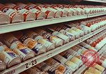 Image of 1950s supermarket shoppers Yonkers New York USA, 1958, second 5 stock footage video 65675050579