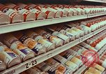 Image of 1950s supermarket shoppers Yonkers New York USA, 1958, second 6 stock footage video 65675050579
