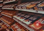 Image of 1950s supermarket shoppers Yonkers New York USA, 1958, second 8 stock footage video 65675050579