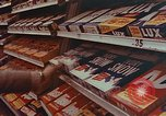 Image of 1950s supermarket shoppers Yonkers New York USA, 1958, second 9 stock footage video 65675050579
