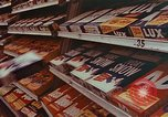 Image of 1950s supermarket shoppers Yonkers New York USA, 1958, second 10 stock footage video 65675050579
