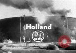 Image of oil fire Rotterdam Netherlands, 1954, second 1 stock footage video 65675050606