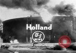 Image of oil fire Rotterdam Netherlands, 1954, second 2 stock footage video 65675050606