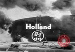 Image of oil fire Rotterdam Netherlands, 1954, second 3 stock footage video 65675050606