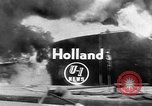 Image of oil fire Rotterdam Netherlands, 1954, second 4 stock footage video 65675050606