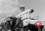 Image of Cleveland Indians baseball team in Spring training Tucson Arizona USA, 1954, second 5 stock footage video 65675050607