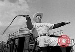 Image of Cleveland Indians baseball team in Spring training Tucson Arizona USA, 1954, second 6 stock footage video 65675050607