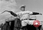 Image of Cleveland Indians baseball team in Spring training Tucson Arizona USA, 1954, second 7 stock footage video 65675050607