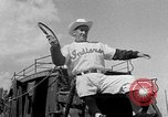 Image of Cleveland Indians baseball team in Spring training Tucson Arizona USA, 1954, second 8 stock footage video 65675050607