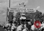 Image of Cleveland Indians baseball team in Spring training Tucson Arizona USA, 1954, second 10 stock footage video 65675050607