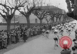 Image of cycle race Italy, 1954, second 10 stock footage video 65675050609