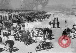 Image of motorcycle race Daytona Beach Florida USA, 1954, second 1 stock footage video 65675050610